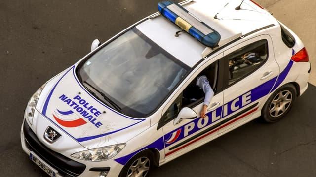 Une voiture de police - Illustration