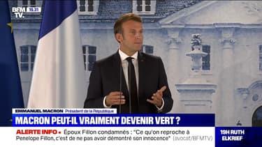 """Emmanuel Macron: """"L'ambition climatique ne doit pas être en réaction à quelque cycle électoral que ce soit"""""""