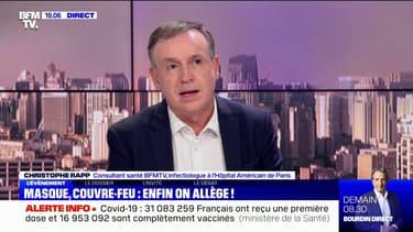"""Pour le Pr Rapp, les annonces de Jean Castex sont """"une réponse adaptée à la décrue de l'épidémie"""""""