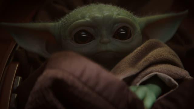 """Le """"Baby Yoda"""" dans la série The Mandalorian"""