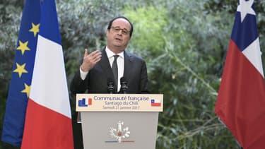 François Hollande à fait allusion à la politique de Donald Trump
