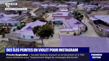 En Corée du Sud, deux îles ont été repeintes en violet pour attirer les touristes