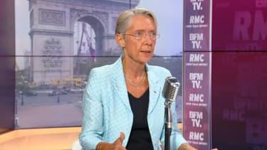 La ministre du Travail, Élisabeth Borne, sur BFMTV-RMC le 27 juillet 2021.