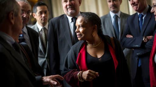 Christiane Taubira en visite dans un tribunal pour mineurs