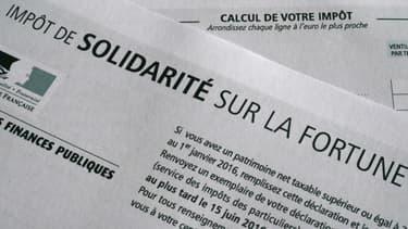 Déclaration de l'impôt de solidarité sur la fortune