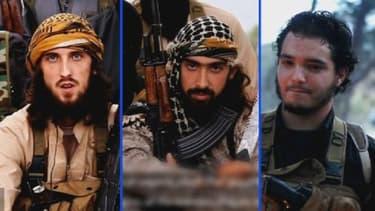 Ces trois hommes combattant au sein de Daesh appellent, en français, les musulmans de France à se joindre aux jihadistes en Syrie, dans une vidéo. Quentin le Brun serait celui qui se trouve à gauche dans ce montage.