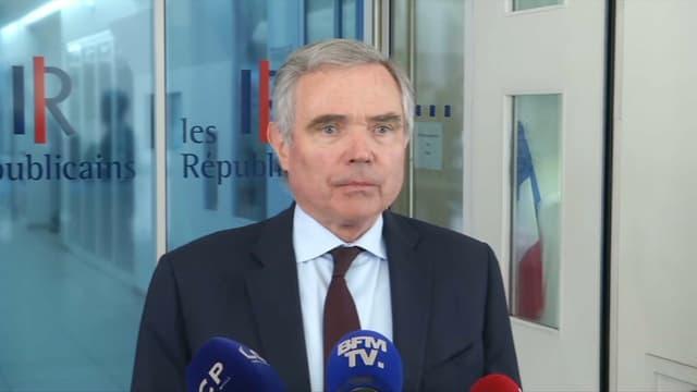 Bernard Accoyer, lundi 15 mai devant le siège des Républicains.