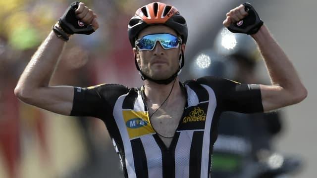Le Britannique Stephen Cummings sur le Tour de France 2015
