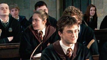 Harry Potter et Ron Weasley en classe