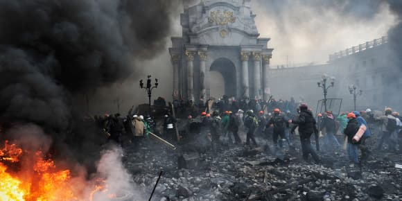 Jeudi 20 février, à Kiev.