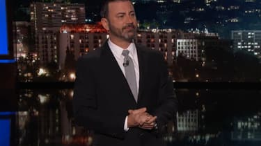 "Jimmy Kimmel sur le plateau du ""Jimmy Kimmel Live!"", lundi 2 octobre"
