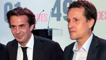Yannick Bolloré et Rodolphe Belmer en 2012