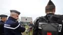 Des gendarmes à Châteaubriant dans la zone de Notre-Dame-des-Landes le 16 avril