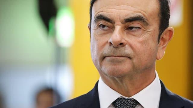 L'ex-patron de la marque au losange, Carlos Ghosn.