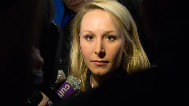 Marion Maréchal-Le Pen le 29 mars 215 à Carpentras, après le second tour des élections départementales.