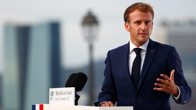 Emmanuel Macron, le 2 septembre 2021 à Marseille