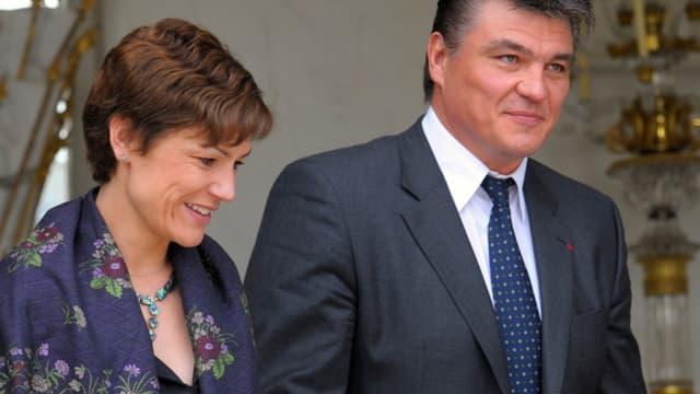 Chantal Jouanno et David Douillet