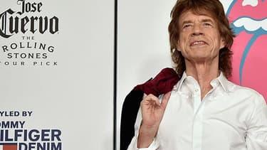 Mick Jagger à l'exposition sur les Rolling Stones, à New York, le 15 novembre 2016.