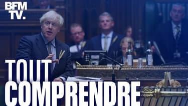 Boris Johnson devant la Chambre des Communes le 9 septembre