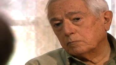 L'historien Maurice Agulhon lors d'un entretien pour l'Institut national de l'audiovisuel