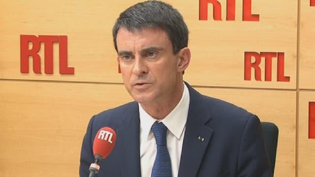Manuel Valls, lundi matin, s'est exprimé sur la menace terroriste qui pèse actuellement sur la France.