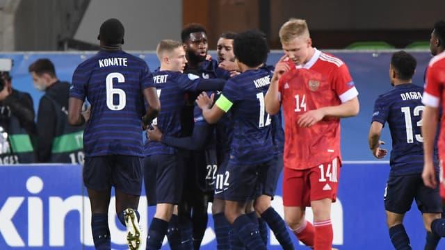 L'équipe de France Espoirs face à la Russie