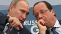 Vladimir Poutine et François Hollande le 6 septembre 2013 à Saint-Pétersbourg.
