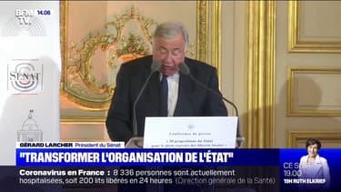 """Gérard Larcher (LR) considère que """"l'organisation de l'État doit être profondément transformée"""""""