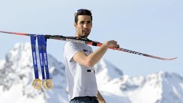 Martin Fourcade a glané deux médailles d'or et une d'argent lors des JO d'hiver de Sotchi.