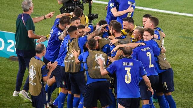 La joie des Italiens à l'Euro
