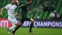 Marcus Berg prend Damien Da Silva de vitesse lors de Krasnodar-Rennes