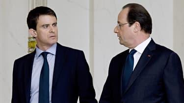 Manuel Valls et François Hollande à l'Elysée, le 4 avril 2014.