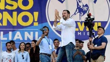 Matteo Salvini lors du rendez-vous annuel de la Ligue du Nord à Pontida au Nord-Est de Milan le 1er juillet dernier.