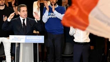 Nicolas Sarkozy lors d'un meeting à Marseille le 27 octobre 2016