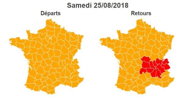 Retour de vacances: Bison Futé voit orange pour la journée de samedi