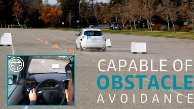 Renault a présenté cette semaine Callie, une voiture autonome de niveau 4. Elle peut notamment éviter les obstacles.