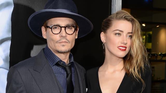 Johnny Depp et Amber Heard, le 12 février 2014 à Hollywood.