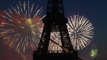Feu d'artifice à Paris le 14 juillet 2007