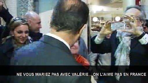François Hollande à Dijon, lundi 11 mars 2013