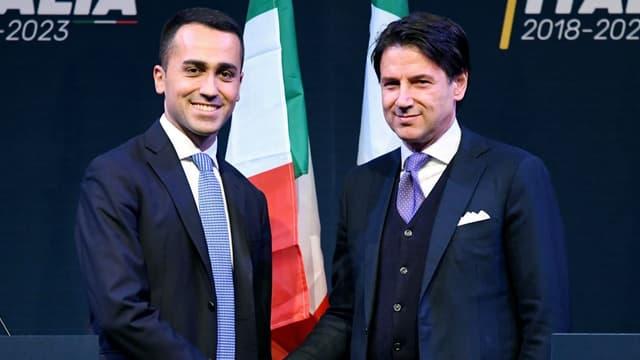Luigi di Maio et Giuseppe Conte le 1er mars 2018.