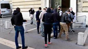 Des supporters de l'OM au tribunal de Marseille, le 24 février 2021