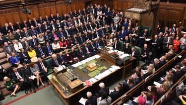 Le Parlement britannique lors du vote sur l'accord de Brexit, samedi 19 octobre 2019.