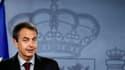 Le président du gouvernement espagnol, José Luis Rodriguez Zapatero, lors d'une conférence de presse à Madrid à l'occasion de la libération de deux travailleurs humanitaires espagnols enlevés en novembre dernier par Al Qaïda au Maghreb islamique (Aqmi). R