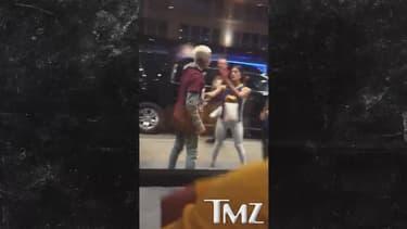 Une image extraite de la vidéo que s'est procuré le site TMZ, montrant Justin Bieber aux prises avec un homme.