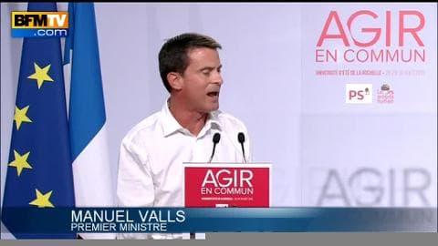 """A La Rochelle, Manuel Valls tacle la droite qui """"court derrière le FN"""""""