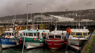 Des bateaux de pêche à Boulogne-sur-Mer.