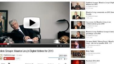Publicis publie ses voeux sur YouTube