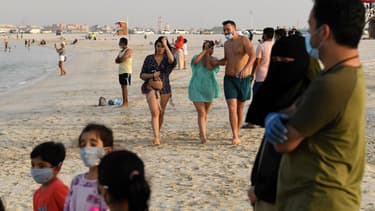 Une plage de Dubaï, aux Emirats-Arabes-Unis, le 25 juin 2020.