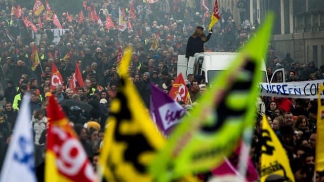 La manifestation du 10 décembre contre la réforme des retraites à Nantes.