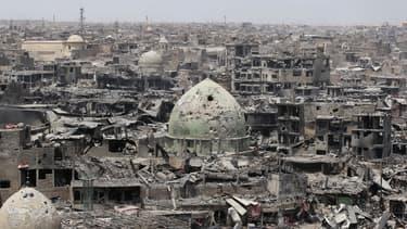 La vieille ville de Mossoul, dévastée, le 9 juillet 2017. (photo d'illustration)